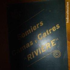Catálogos publicitarios: ANTIGUO CATÁLOGO SOMIERES CAMAS Y CATRES BARCELONA RIVIERE. Lote 277476083