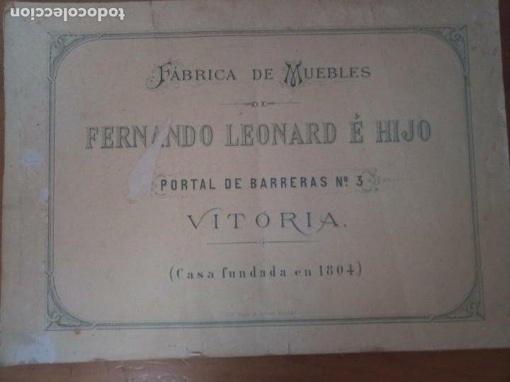 ANTIGUO CATÁLOGO MUEBLES VITORIA LEONARD E HIJO (Coleccionismo - Catálogos Publicitarios)