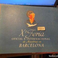 Catálogos publicitarios: ANTIGUO CATALOGO - Xº FERIA OFICIAL E INTERNACIONAL DE MUESTRAS EN BARCELONA 1942 - 8-30 SEPTIEMBRE. Lote 277479133