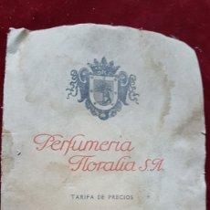 Catálogos publicitarios: RARO CATALOGO PRECIOS PERFUMERIA FLORALIA MADRID JULIO 1917. Lote 277643083
