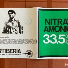Catalogues publicitaires: FOLLETO PUBLICIDAD ABONOS FERTIBERIA, NITRATO AMÓNICO 33,5%N, 1966. Lote 277710013