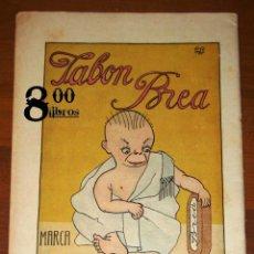 Catálogos publicitarios: ANUNCIO - HOJA - PUBLICIDAD. JABÓN BREA LA GIRALDA ; LEA VD. ABC. DOBLE CARA. - BLANCO Y NEGRO, 1918. Lote 277833898