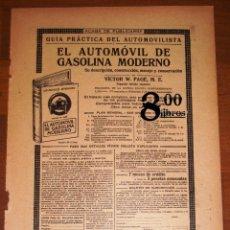 Catálogos publicitarios: ANUNCIO - HOJA - PUBLICIDAD. EL AUTOMÓVIL DE GASOLINA MODERNO / LABOR ; MEDICAMENTOS DEL DR. SOIVRÉ. Lote 277834218