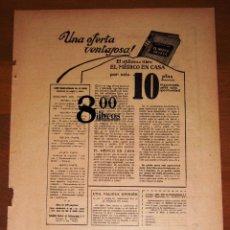 Catálogos publicitarios: ANUNCIO - HOJA - PUBLICIDAD. LIBRO EL MÉDICO EN CASA ; CALCETINES AMERICANOS INTERWOVEN, SWAN PLUMA. Lote 277834303