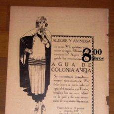 Catálogos publicitarios: ANUNCIO - HOJA - PUBLICIDAD. AGUA DE COLONIA AÑEJA... / PERFUMERÍA GAL ; POMADA ANEMA SMITH.... Lote 277834738