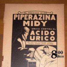 Catálogos publicitarios: ANUNCIO - HOJA - PUBLICIDAD. PIPERAZINA MIDY ; INTERNACIONAL INSTITUCIÓN ELECTROTECNIA, SALES CLARKS. Lote 277834988