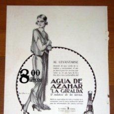 Catálogos publicitarios: ANUNCIO - HOJA - PUBLICIDAD. AGUA DE AZAHAR LA GIRALDA ; LUCHAS INTESTINAS / SILENO. - 1924. Lote 277835168