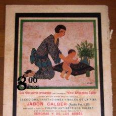 Catálogos publicitarios: ANUNCIO - HOJA - PUBLICIDAD. JABÓN CALBER... / URIBE ; PERFUMERÍA HIGIÉNICA CALBER, SAN SEBASTIÁN.... Lote 277835393