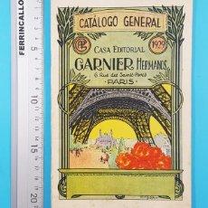 Catálogos publicitarios: CATALOGO GENERAL CASA EDITORIAL GARNIER PARIS 1929 78 PAG EN CASTELLANO Y PRECIOS EN FRANCOS, LIBROS. Lote 278188088