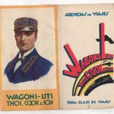 Catalogues publicitaires: CATALOGO PUBLICITARIO AGENCIAS DE VIAJES WAGONS LITS. 1929. Lote 278211538