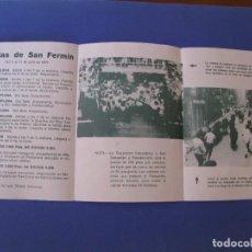 Catalogues publicitaires: FOLLETO DE EXCURSION DESDE MALAGA A PAMPLONA. FIESTAS DE SAN FERMIN. 1972. AUTOPULLMAN.. Lote 278580173