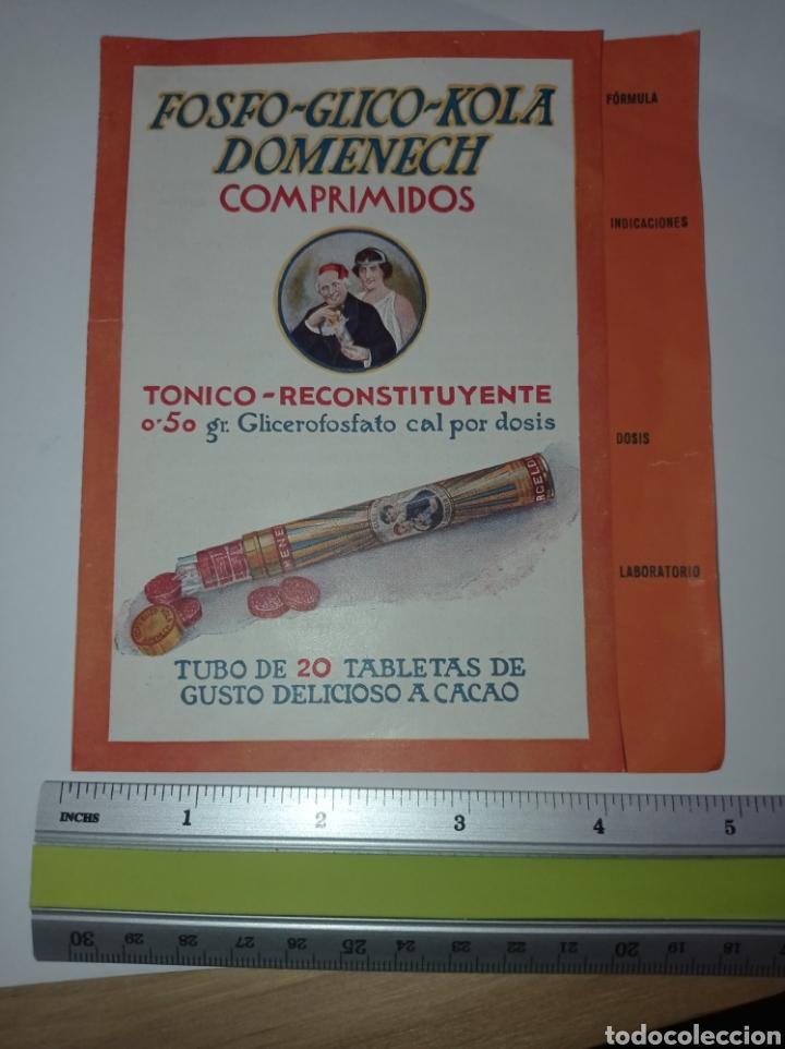 Catálogos publicitarios: Publicidad Fosfo glico kola Domènech. Años 10. Reconstituyente. Folleto - Foto 2 - 278694268