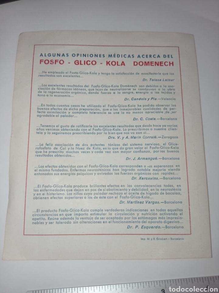 Catálogos publicitarios: Publicidad Fosfo glico kola Domènech. Años 10. Reconstituyente. Folleto - Foto 4 - 278694268
