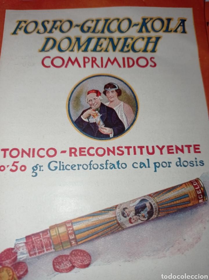 PUBLICIDAD FOSFO GLICO KOLA DOMÈNECH. AÑOS 10. RECONSTITUYENTE. FOLLETO (Coleccionismo - Catálogos Publicitarios)