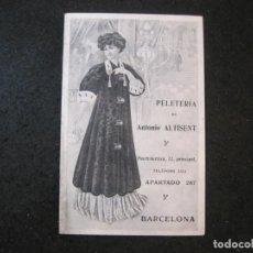 Catálogos publicitarios: PELETERIA ANTONIO ALTISENT-BARCELONA-ROPA Y COMPLEMENTOS-CATALOGO PUBLICIDAD MODA-VER FOTOS-(K-4053). Lote 285297173