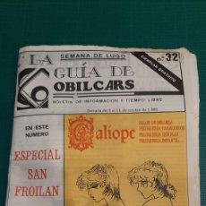 Catálogos publicitarios: GUIAS OBLICARS SEMANA LUGO ESPECIAL SAN FROILAN 1980 PUBLICIDAD. Lote 287768088