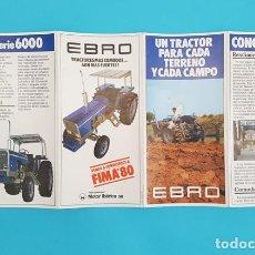 Catálogos publicitários: FOLLETO CUADRIPTICO TRACTORES EBRO 21,50 X 42 CM DESPLEGADO 1980. Lote 288378903