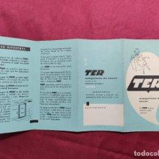 Catálogos publicitarios: CATALOGO ORIGINAL. TER. MAQUINA DE LAVAR. TRABAJA MIENTRAS USTED DESCANSA. Lote 288569343