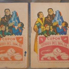 Catálogos publicitarios: LOTE 2 LIBRETAS CUPÓN AHORRO DEL HOGAR.. Lote 288701078