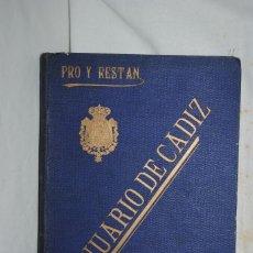 Catálogos publicitarios: ANUARIO DE CADIZ 1930. Lote 288743683