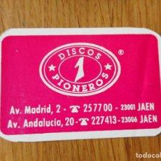 Catálogos publicitarios: ANTIGUO CUPON DE DESCUENTO.DISCOS PIONEROS.LPS.CASSETTES.JAEN.. Lote 288916278