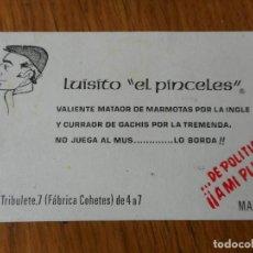 Catálogos publicitarios: ANTIGUA TARJETA.LUISITO EL PINCELES.FABRICA DE COHETES.MADRID?. Lote 288922343