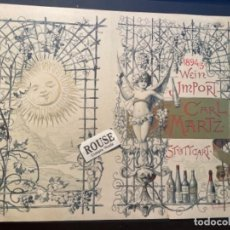 Catálogos publicitarios: VINOS - ANTIGUA LAMINA PUBLICITARIA 1894/95 - WEIN IMPORT CARL MARTZ STUTTGART Nº 18 1895 GRAPHISCHE. Lote 288963078