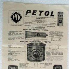 Catálogos publicitarios: AÑOS 40 PUBLICIDAD DE VETERINARIA DE POMADA PECTOL. Lote 289801093