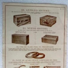 Catálogos publicitarios: AÑOS 40 PUBLICIDAD DE CIERRES PARA TODO TIPO DE CAJAS. Lote 289801478