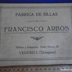 Catálogos publicitarios: (CAT-210900)CATALOGO DE SILLAS FRANCISCO ARBOS - VENDRELL - TARRAGONA. Lote 289893063