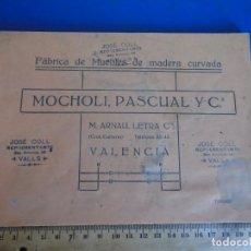 Catálogos publicitarios: (CAT-210902)CATALOGO DE MUEBLES DE MADERA CURVADA - MOCHOLI,PASCUAL Y Cª - VALENCIA. Lote 289893688