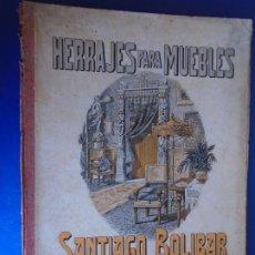 Catálogos publicitarios: (CAT-210904)CATALOGO DE HERRAJES PARA MUEBLES - SANTIAGO BOLIVAR - BARCELONA. Lote 289894733
