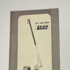 Cataloghi pubblicitari: PUBLICIDAD DE GRUAS LUNA MODELO GT- 20/22N AÑOS 80. Lote 292232663
