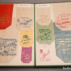 Catálogos publicitarios: PUBLICIDAD - MUESTRARIO BOLSAS DE PAPEL - CIRCA 1900 - TABACO - CAFÉ - CONFITERÍA . ZAMORA , MADRID. Lote 293457313