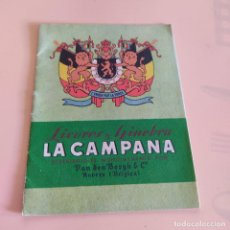 Catálogos publicitarios: LICORES Y GINEBRA LA CAMPANA. SIN FECHAR.DISTRIBUIDOS MUNDIALMENTE POR VANDEN BERGH. 33 PAGS.. Lote 294170878