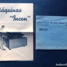 Catálogos publicitarios: SAN SEBASTIÁN / PUBLIDIDAD MAQUINAS INCON / FELIX MAYOR ALTAMIRA / FABRICACIÓN MATERIALES. Lote 294932248
