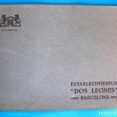 Catálogos publicitarios: CATÁLOGO ESTABLECIMIENTOS DOS LEONES. FERRETERÍA, BATERIAS DE COCINA, NEVERAS FOCA. BARCELONA, S/F.. Lote 295270053