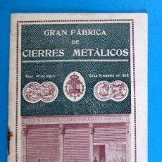 Catálogos publicitarios: CATÁLOGO GRAN FÁBRICA DE CIERRES METÁLICOS ALBERTO GARCÍA. PUERTAS. BARCELONA, S/F.. Lote 295291683