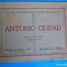 Catálogos publicitarios: CATÁLOGO TALLER DE CONSTRUCCIONES METÁLICAS ANTONIO CIUDAD. SOMIERS, TENSORES, ETC. BARCELONA, S/F.. Lote 295298633
