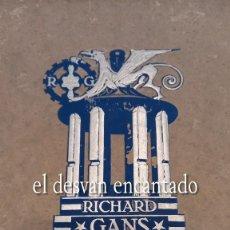 Catálogos publicitarios: RICHARD GANS. FUNDICIÓN TIPOGRÁFICA. GRAN CATÁLOGO TIPOGRÁFICO. H. 1922. IMPRENTA. PESO: 1590 GR.. Lote 295720218