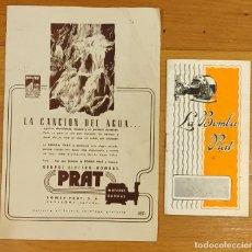 Catálogos publicitarios: CATALOGO PUBLICITARIO DE LA BOMBA PRAT. 1932. Lote 297081163
