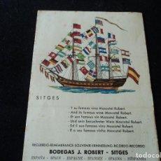 Catálogos publicitarios: SOUVENIR DE LAS BODEGAS J. ROBERT DE SITGES, VINO MOSCATEL, BANDERAS. Lote 297100028