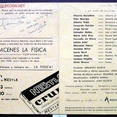 Cine: AUTÓGRAFOS DE *ENCARNA SÁNCHEZ. MARIO BEUT Y ANTONIO LOSADA* IMP. PUBLIC. DEL TEATRO RADIOFÓNICO.. Lote 2400046