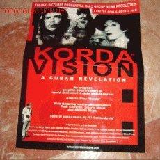 Cine: CARTEL DE LA PELÍCULA CUBANA 'KORDAVISION'. FIRMADO POR SU DIRECTOR, HÉCTOR CRUZ SANDOVAL.. Lote 23373589