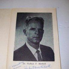 Cine: DEDICATORIA AUTOGRAFA ORIGINAL : DR. HERBERT F. MITCHELL EX-DIRECTOR CENTRO VUELO ESPACIAL NASA. Lote 26791513