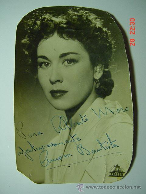 9301 AURORA BAUTISTA FOTO DEDICADA AUTOGRAFO AÑOS 1960 OTRAS SIMILARES EN MI TIENDA C&C (Cine - Autógrafos)
