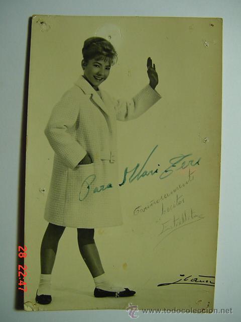 9426 ESTRELLITA FOTO DEDICADA AUTOGRAFO AÑOS 1960 OTRAS SIMILARES EN MI TIENDA C&C (Cine - Autógrafos)
