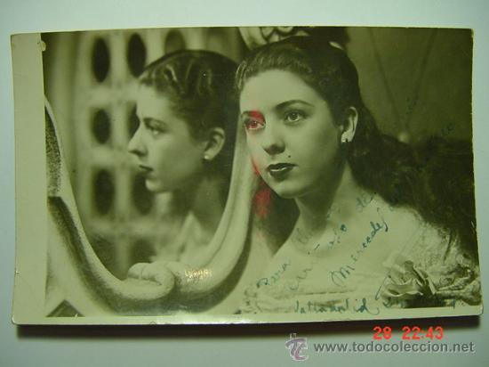 9382 MERCEDES DEL CASTILLO FOTO DEDICADA AUTOGRAFO AÑOS 1960 OTRAS SIMILARES EN MI TIENDA C&C (Cine - Autógrafos)