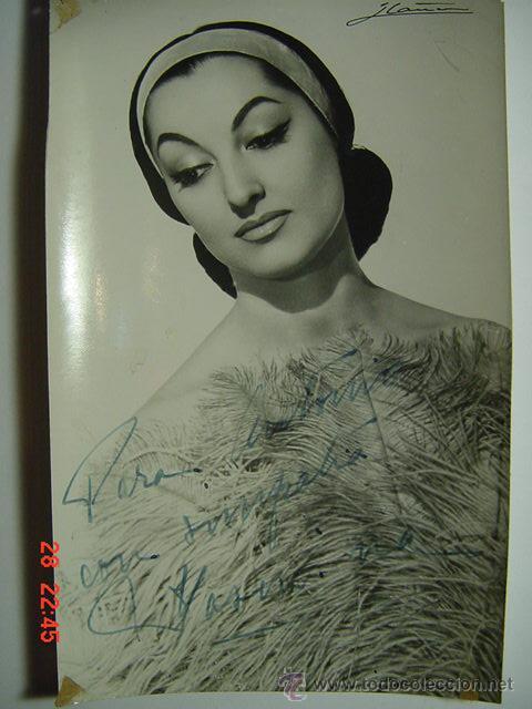 9404 YASMINA FOTOGRAFIA CON AUTOGRAFO - FLAMENCO ARTISTA CABARET CANTANTE BAILAOR ETC (Cine - Autógrafos)