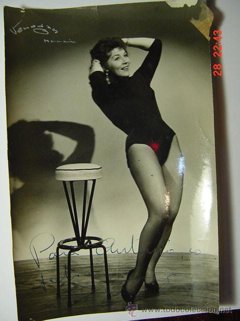 9386 ???? FOTOGRAFIA CON AUTOGRAFO - FLAMENCO ARTISTA CABARET CANTANTE BAILAOR ETC (Cine - Autógrafos)